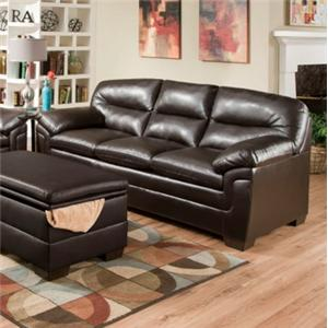 United Furniture Industries 3615 Casual Stationary Sofa