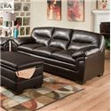 Simmons Upholstery 3615 Casual Stationary Sofa - Item Number: 3615 Sofa ME
