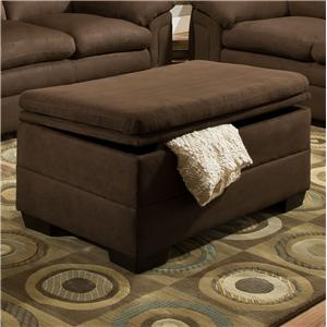 Bon United Furniture Industries 3615 Casual Storage Ottoman
