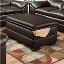 United Furniture Industries 3615 Casual Storage Ottoman - Item Number: 3615 Storage Ottoman ME