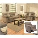 Simmons Upholstery 3683 Sofa, Loveseat and Recliner - Item Number: 3683 Group