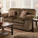 Simmons Upholstery 3683 Loveseat - Item Number: 3683Loveseat-Harlow Chestnut