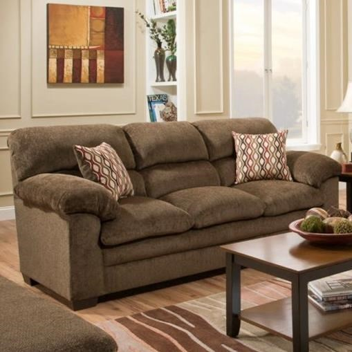 3683 Sofa by Simmons Upholstery at Dunk & Bright Furniture