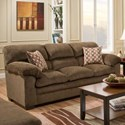 Simmons Upholstery 3683 Sofa - Item Number: 3683Sofa-Harlow Chestnut