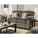 United Furniture Industries 3683 Upholstered Loveseat - Item Number: 3683 Ash-Loveseat