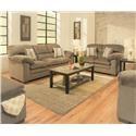Lane Home Furnishings 3684 Puff Musk Sofa and Loveseat - Item Number: 3684