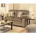 Lane Home Furnishings 3684 Puff Musk Casual Loveseat with Pillow Arms - Item Number: 3684L