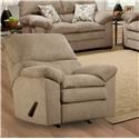 Simmons Upholstery 3684 Puff Musk Recliner with Plush Pillow Arms - Item Number: u684