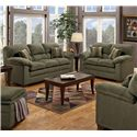 United Furniture Industries 3684 Living Room Group - Item Number: 3684  Green 2 Pc