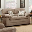 United Furniture Industries 3684 Stationary Loveseat - Item Number: 3684-02-Puff Musk