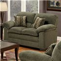 United Furniture Industries 3684 Stationary Loveseat - Item Number: 3684-LSGr