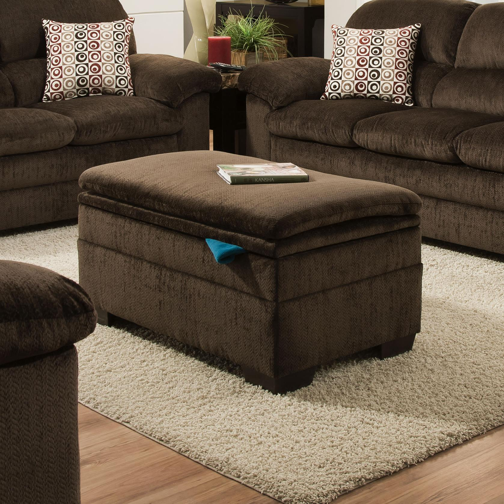 United Furniture Industries 3684 Storage Ottoman - Item Number: 3684-Otto-Chocolate