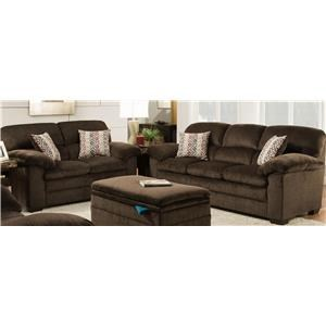 United Furniture Industries 3684 Sofa & Love Seat