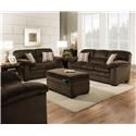 Lane Home Furnishings Plato Chocolate Sofa and Loveseat - Item Number: 3684PC 2 Pc Group