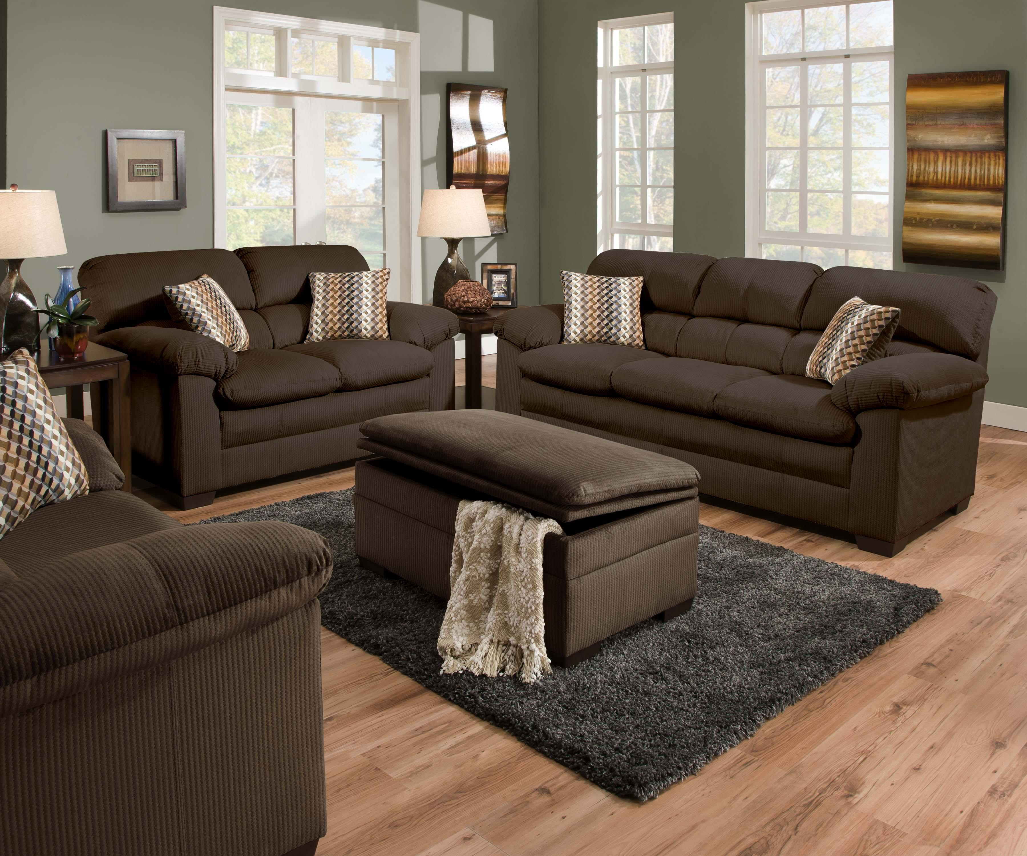 Simmons Upholstery 3685 Casual Sofa With Pillow Arms