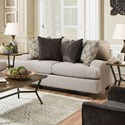 United Furniture Industries 4002 Transitional Loveseat - Item Number: 4002LOVESEAT-LenoxSterling