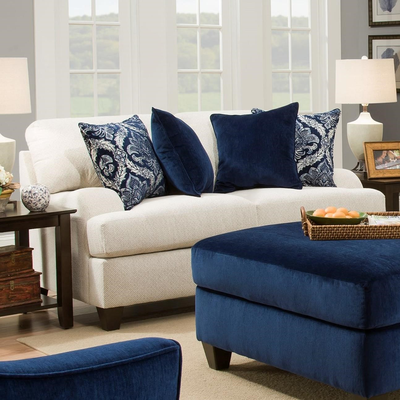 4002 Loveseat by United Furniture Industries at Dream Home Interiors