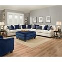 Lane Home Furnishings 4002 Transitional Sectional Sofa - Item Number: 4002SOFA+LOVESEAT+WEDGE-SophiaStone