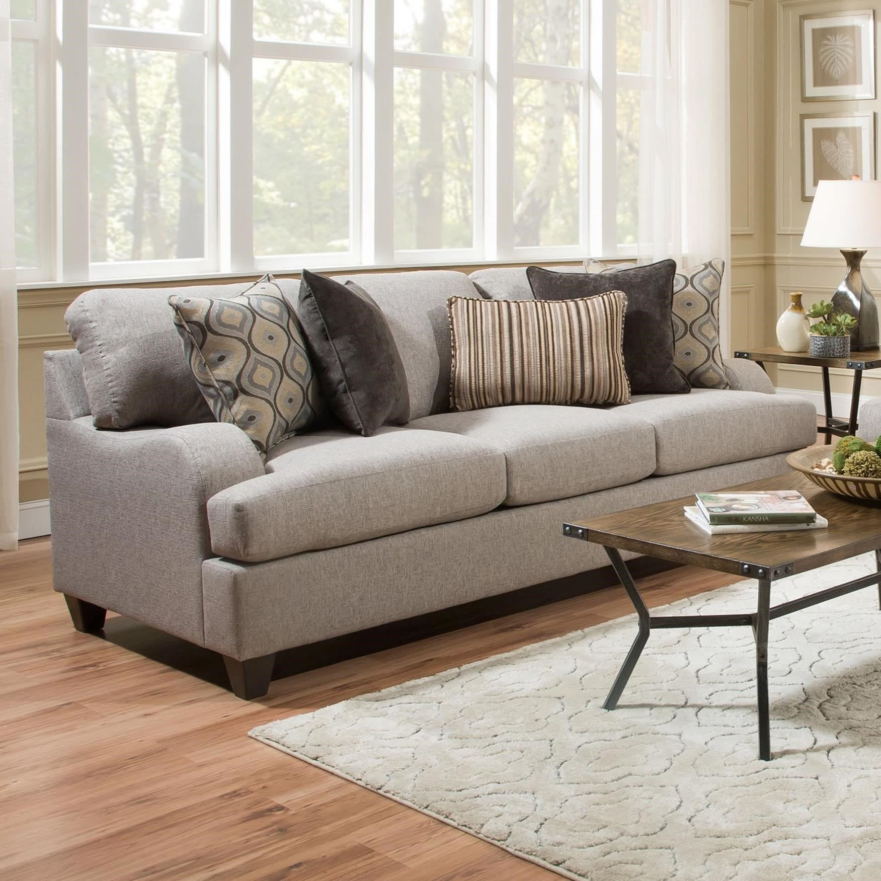 United Furniture Industries 4002 Transitional Sofa - Item Number: 4002SOFA-LenoxSterling