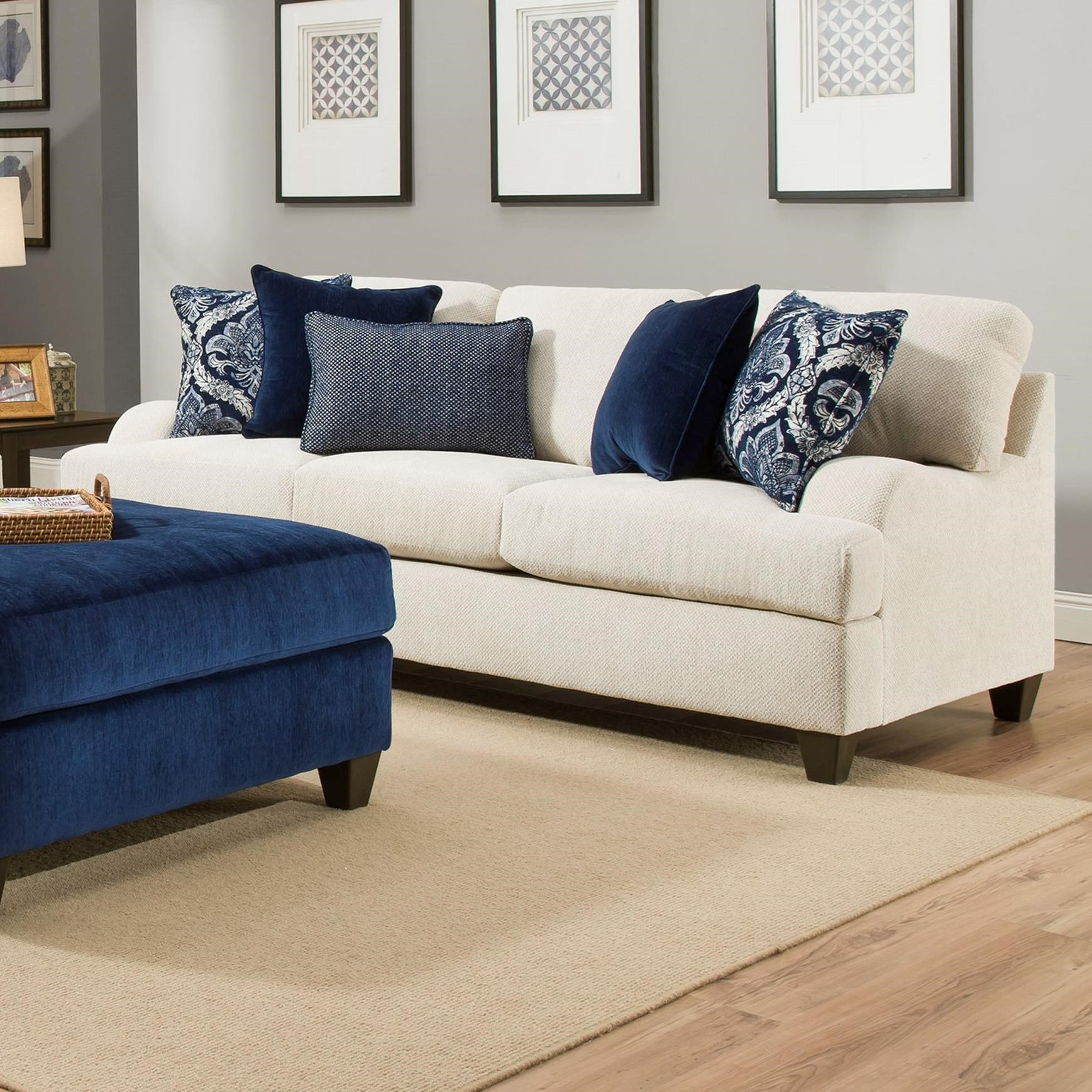 4002 Transitional Sofa by United Furniture Industries at Dream Home Interiors