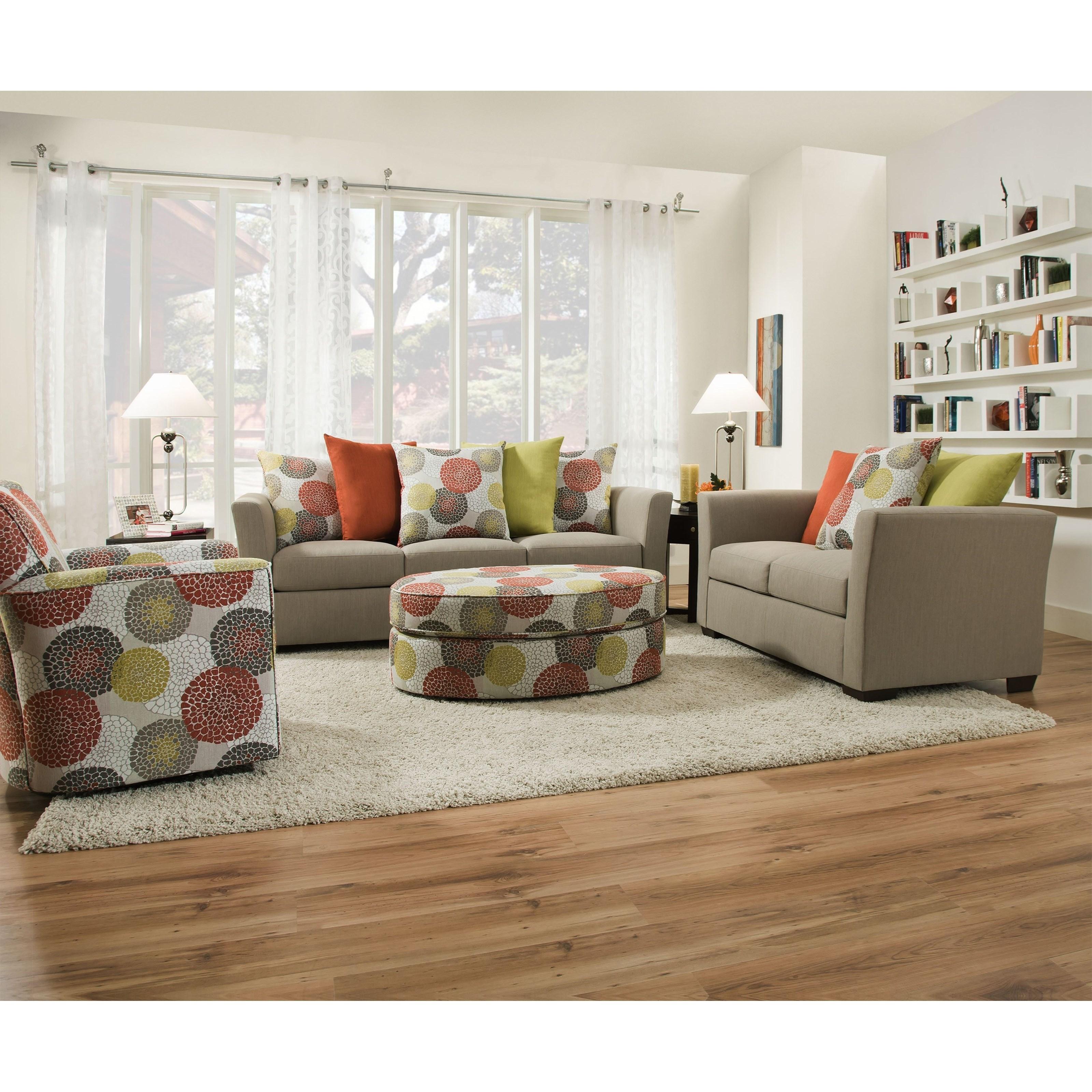 United Furniture Industries 1720 Sofa: United Furniture Industries 4201 4201Sofa-FrenchGray