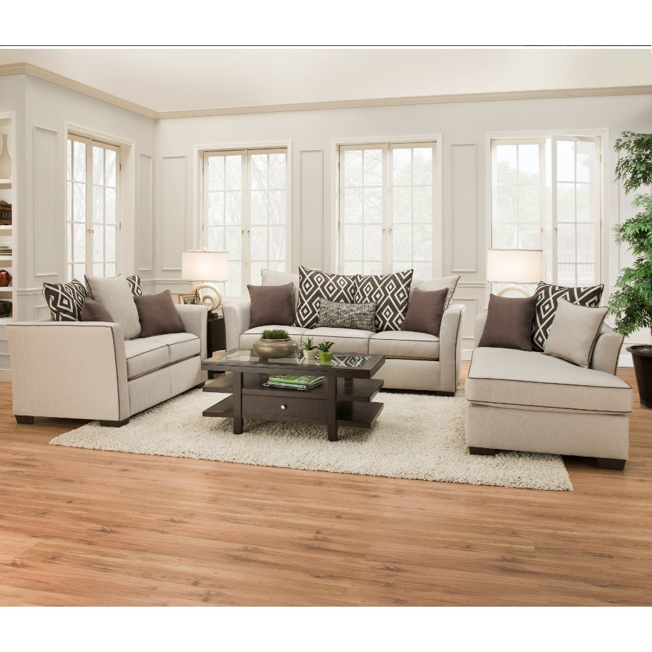 4202 Transitional Living Room Group by Simmons Upholstery at Dunk & Bright Furniture