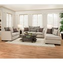 United Furniture Industries 4202 Transitional Love Seat with Flared Arms