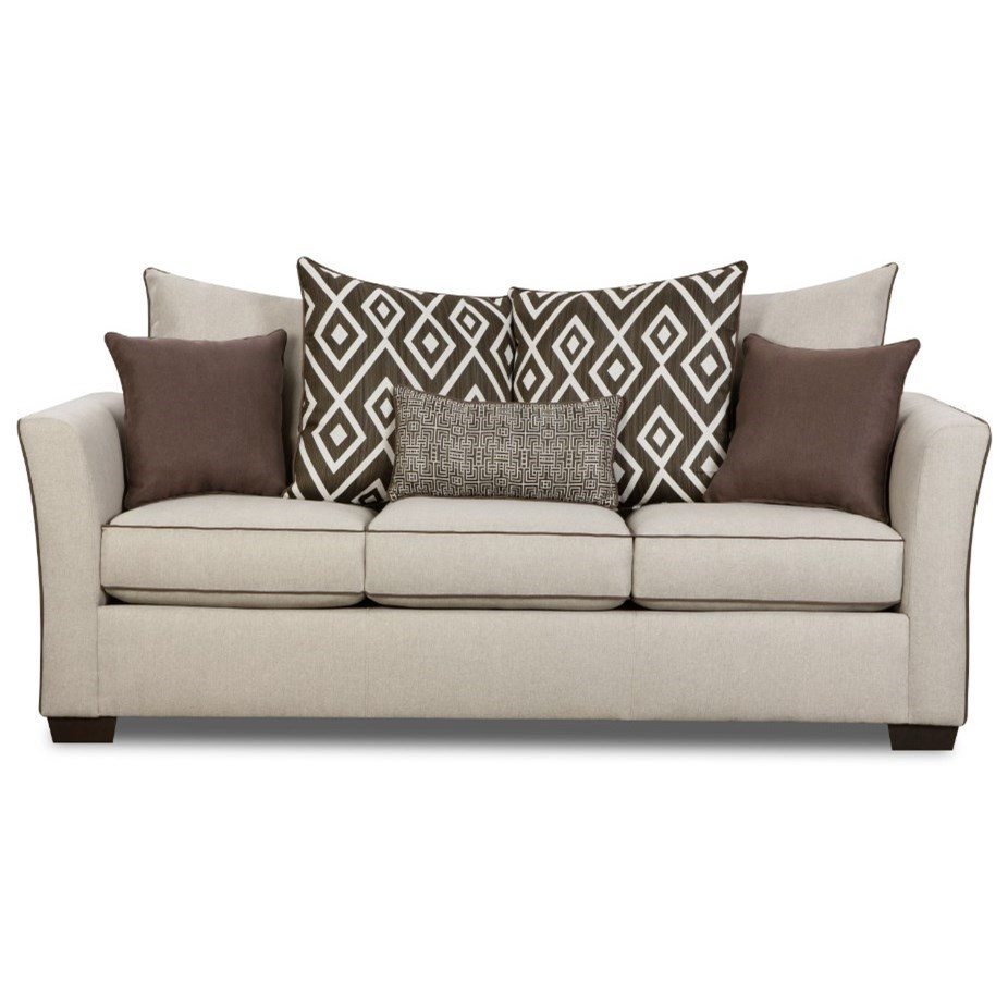 4202 Transitional Sofa by United Furniture Industries at Dream Home Interiors