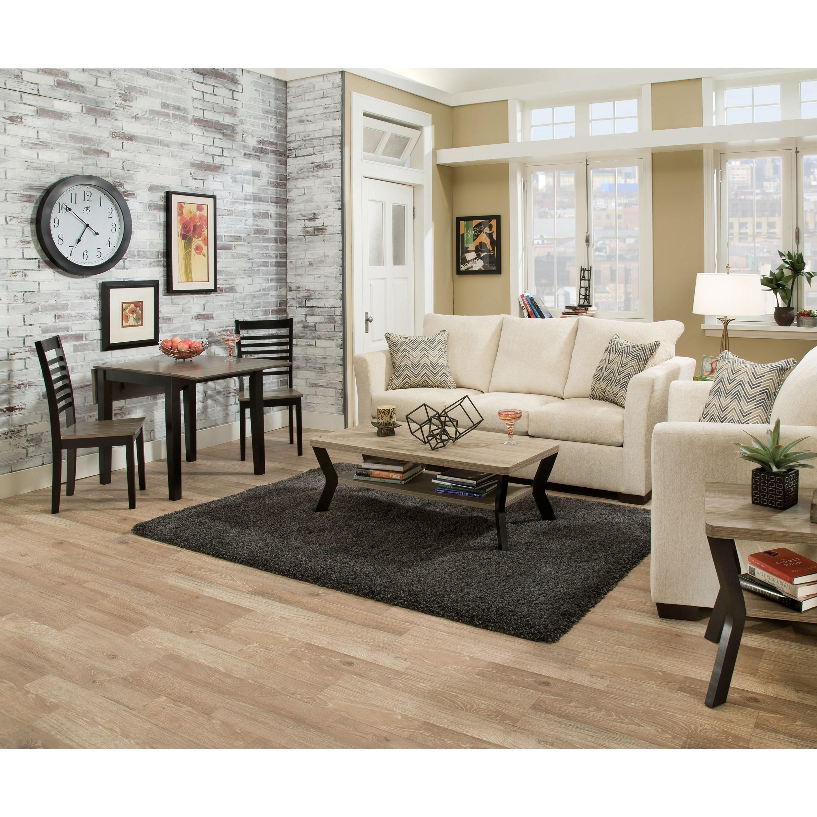 Leather Sofas Preston Lancashire: Simmons Upholstery 4206 4206-QSleeperSofa Transitional