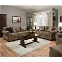 Simmons Upholstery 4250 BR Sofa and Loveseat - Item Number: 4250BRL+BRS