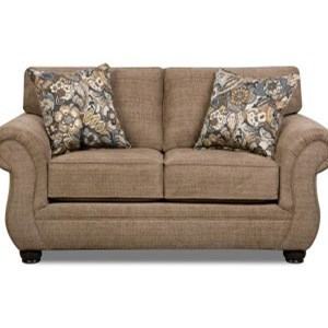 Simmons Upholstery 4250 BR Transitional Loveseat