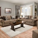 United Furniture Industries 4250 BR Transitional Queen Sleeper Sofa with Rolled Arms