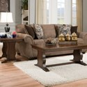 Simmons Upholstery 4250 BR Transitional Sofa - Item Number: 4250BRSofa-EmoryBrownstone