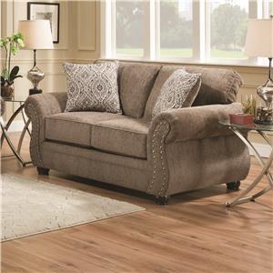 Simmons Upholstery 4253 Chenille Loveseat