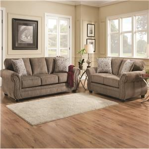 Simmons Upholstery 4253 Living Room Group 4253