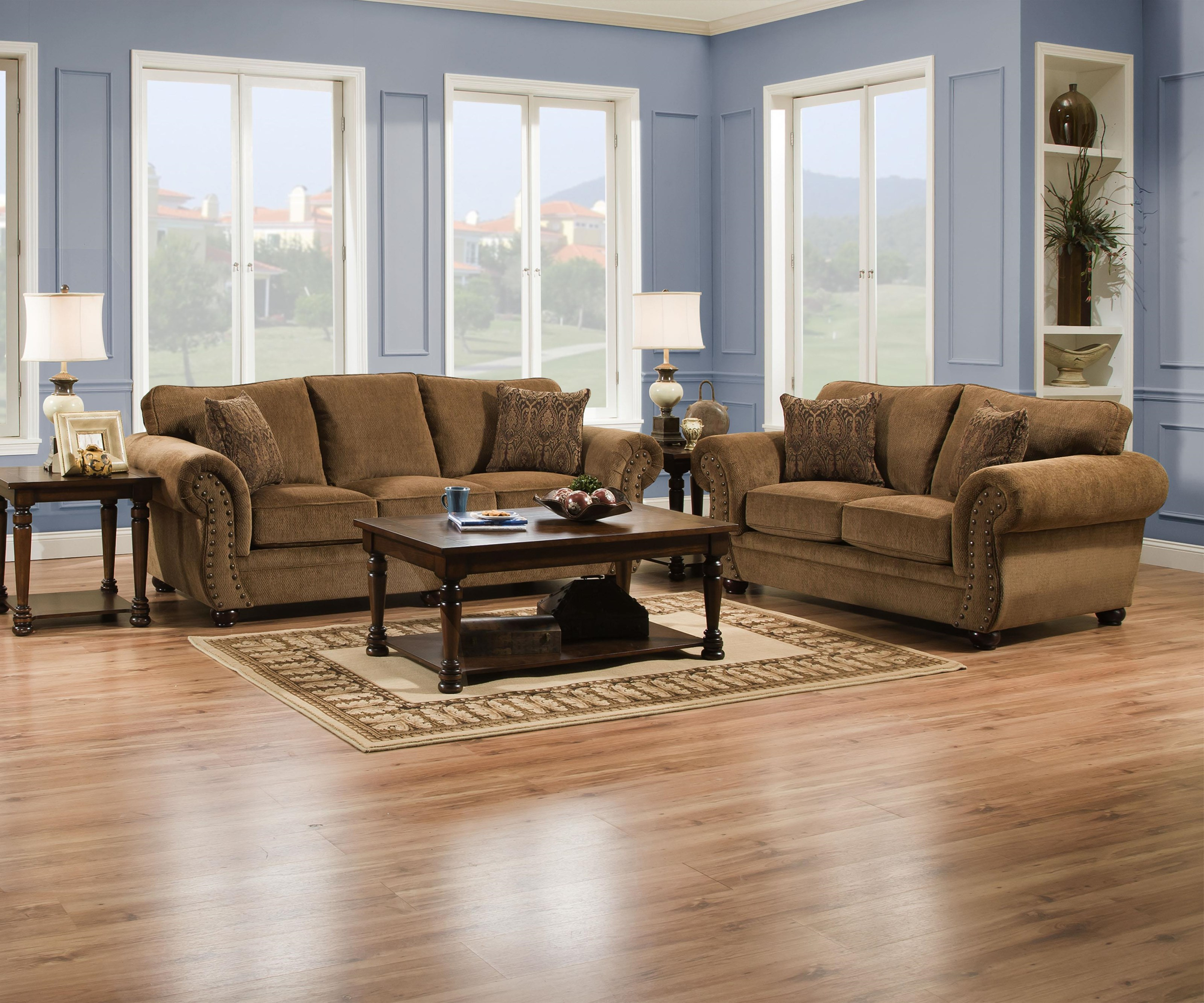Simmons Upholstery 4276 Traditional Sofa and Loveseat - Item Number: 4276 2 Piece Group