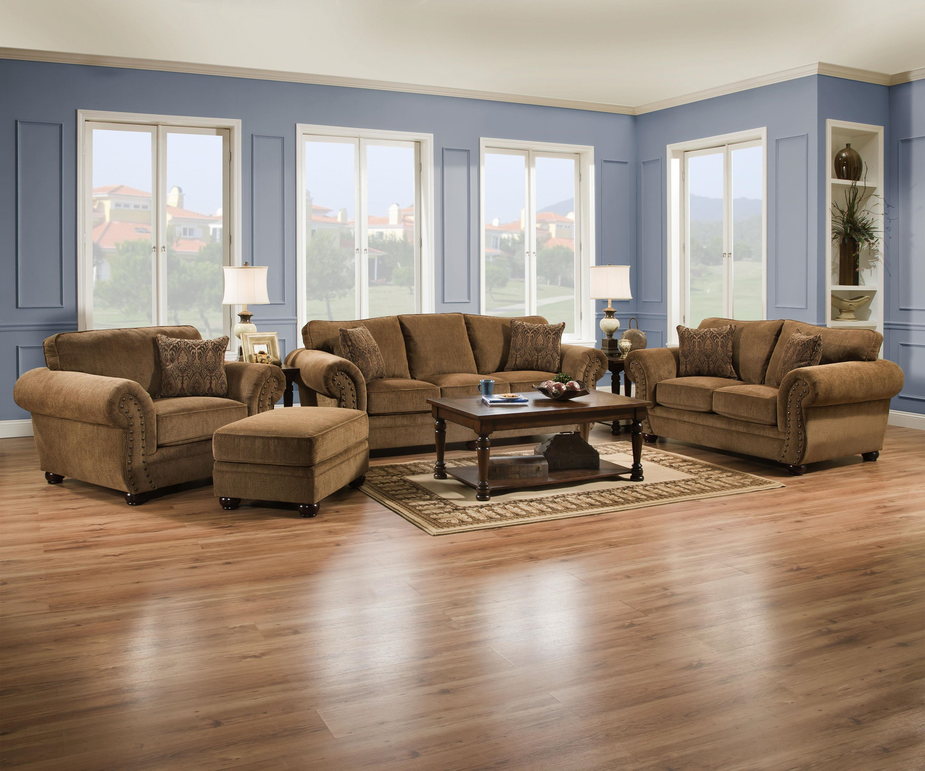Simmons Upholstery 4276 Traditional Living Room - Item Number: 4276 4 Piece Group
