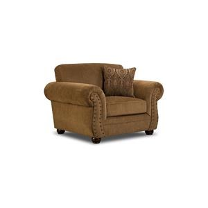Simmons Upholstery 4276 Traditional Chair with Rolled Arms