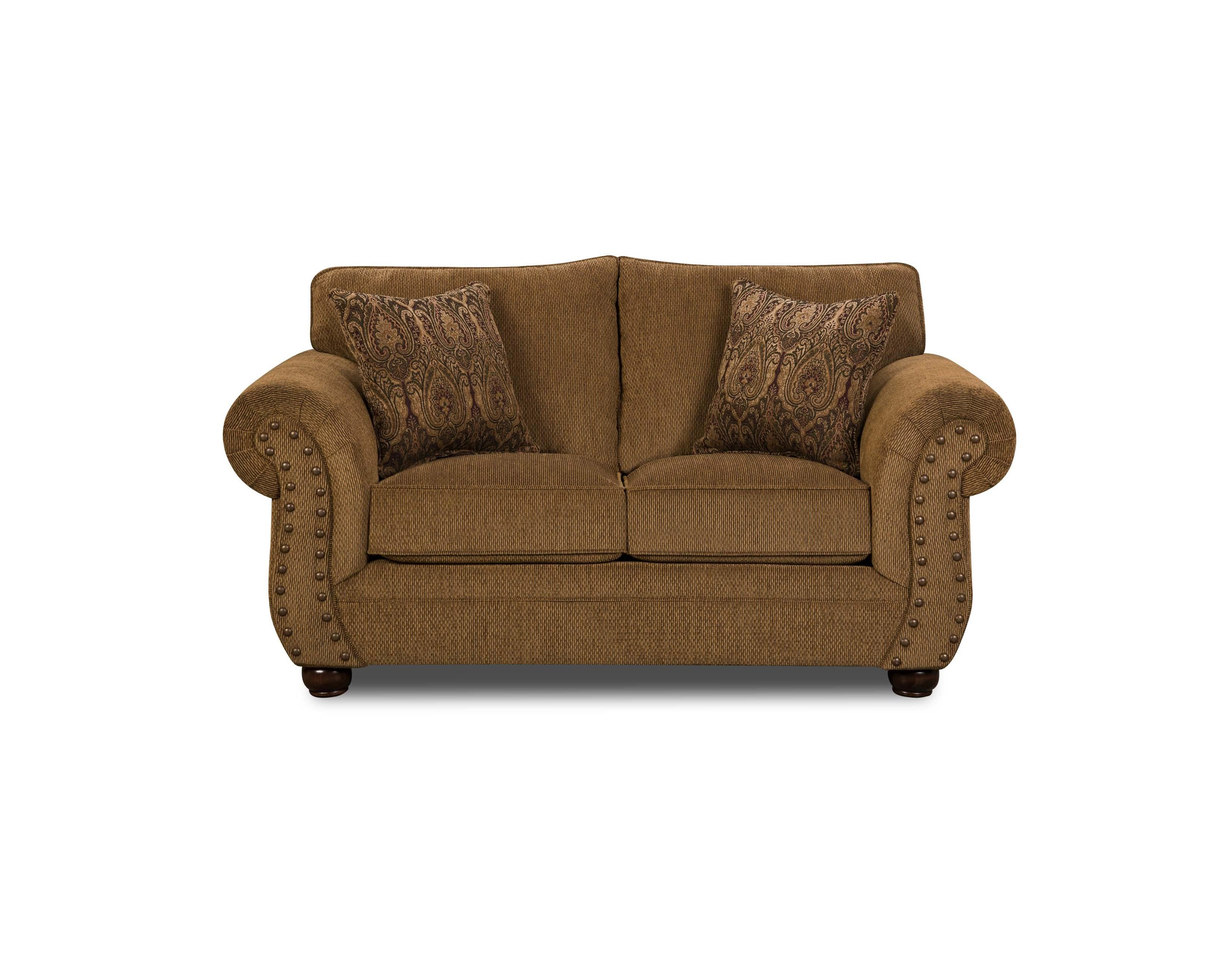 Simmons Upholstery 4276 Traditional Loveseat with Rolled Arms - Item Number: 4276L
