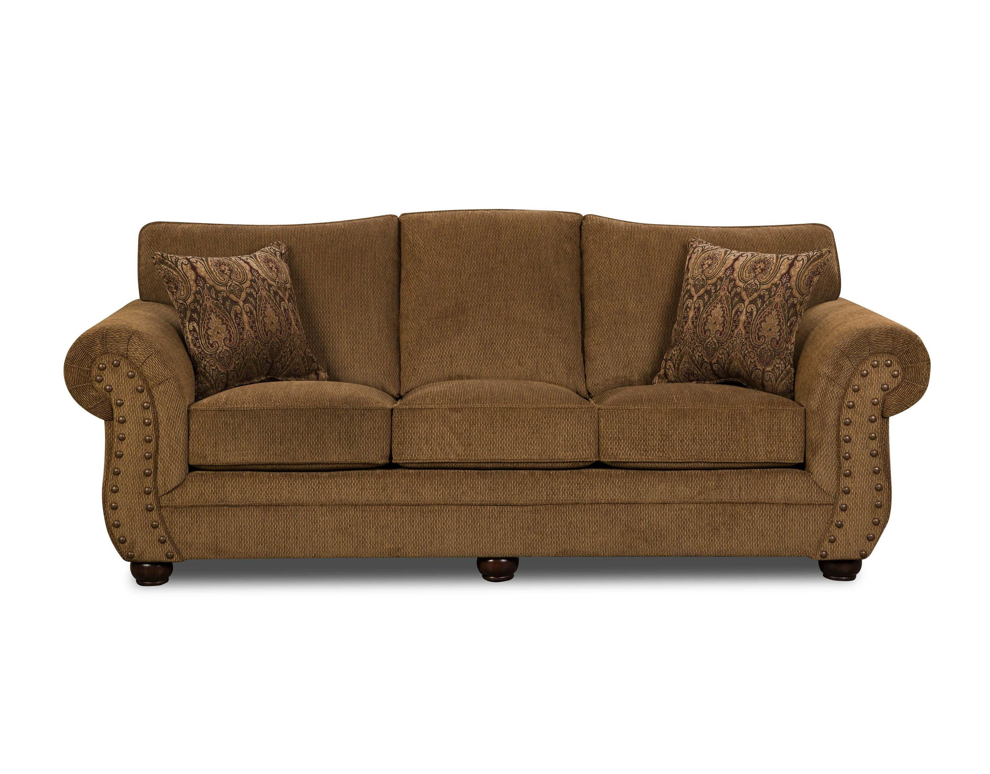 Simmons Upholstery 4276 Traditional Sofa with Rolled Arms - Item Number: 4276S