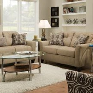 United Furniture Industries 4315 Transitional Loveseat