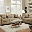United Furniture Industries 4315 Transitional Sofa - Item Number: 4315Sofa-NationalHusk