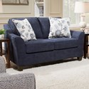 United Furniture Industries 4330 Love Seat - Item Number: 4330LOVESEAT-Prelude Navy