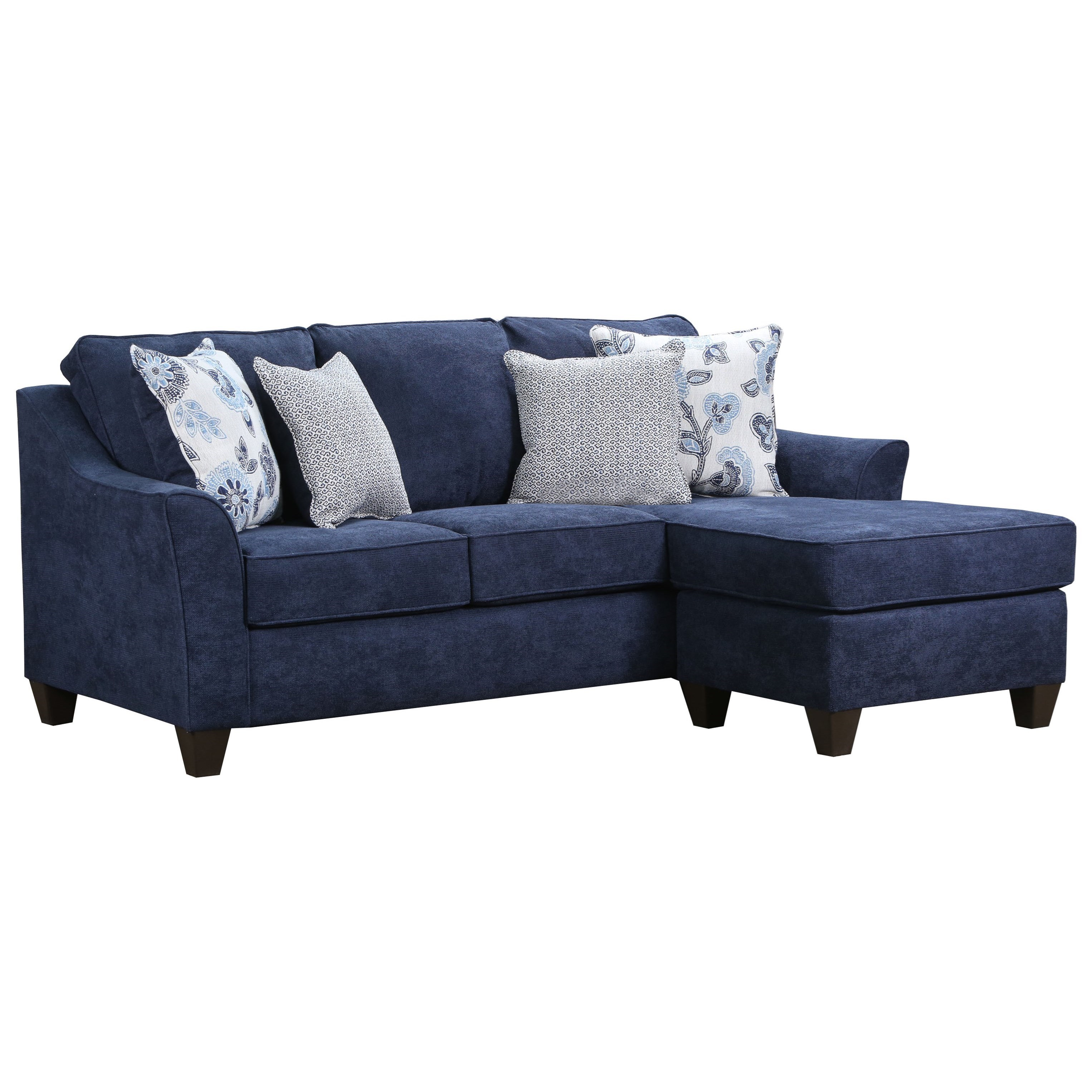 4330 Contemporary Sofa with Reversible Chaise by United Furniture  Industries at Pilgrim Furniture City
