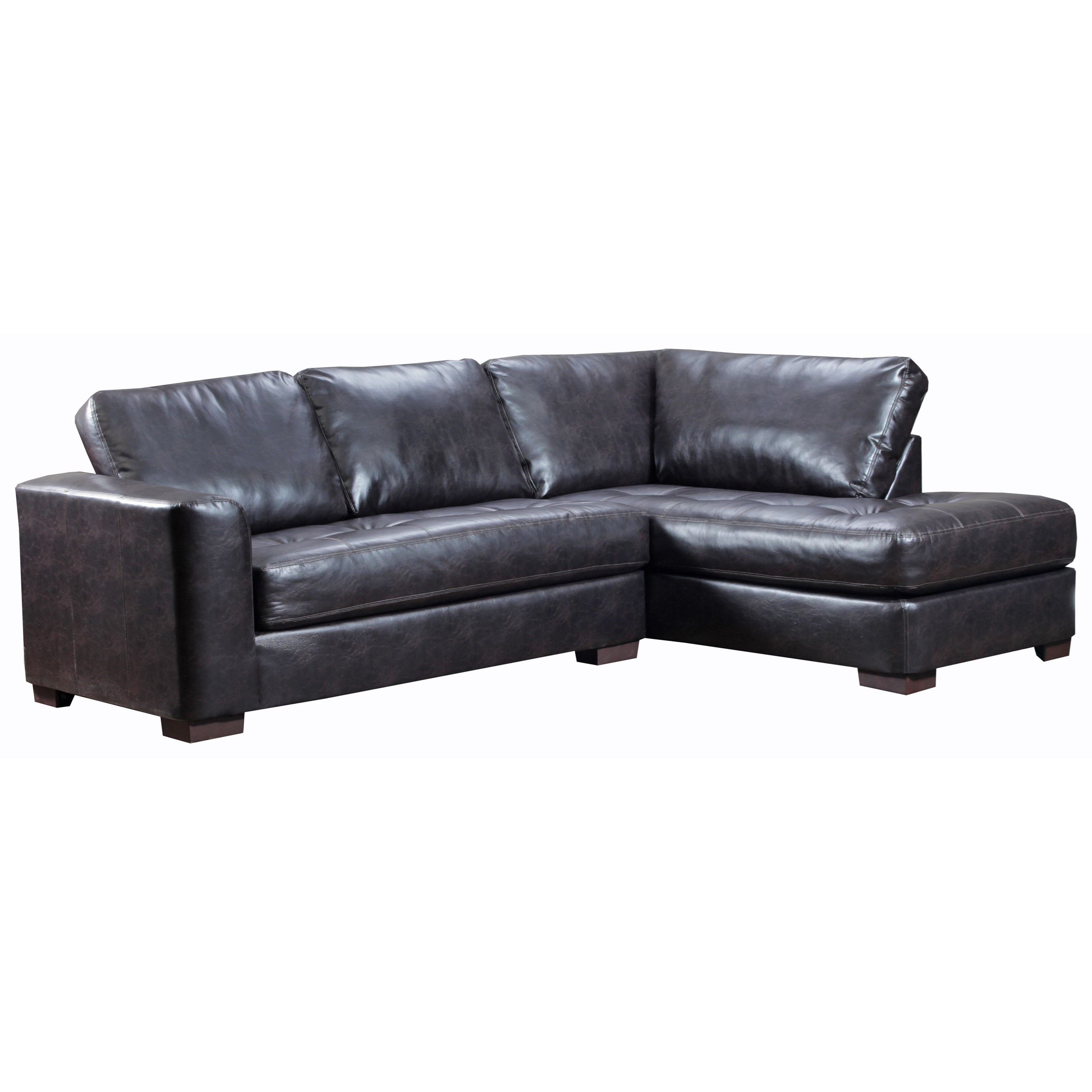 United Furniture Industries 4558 Sectional Sofa - Item Number: 4558LAFSofa+BumpChaise-LuckEspresso