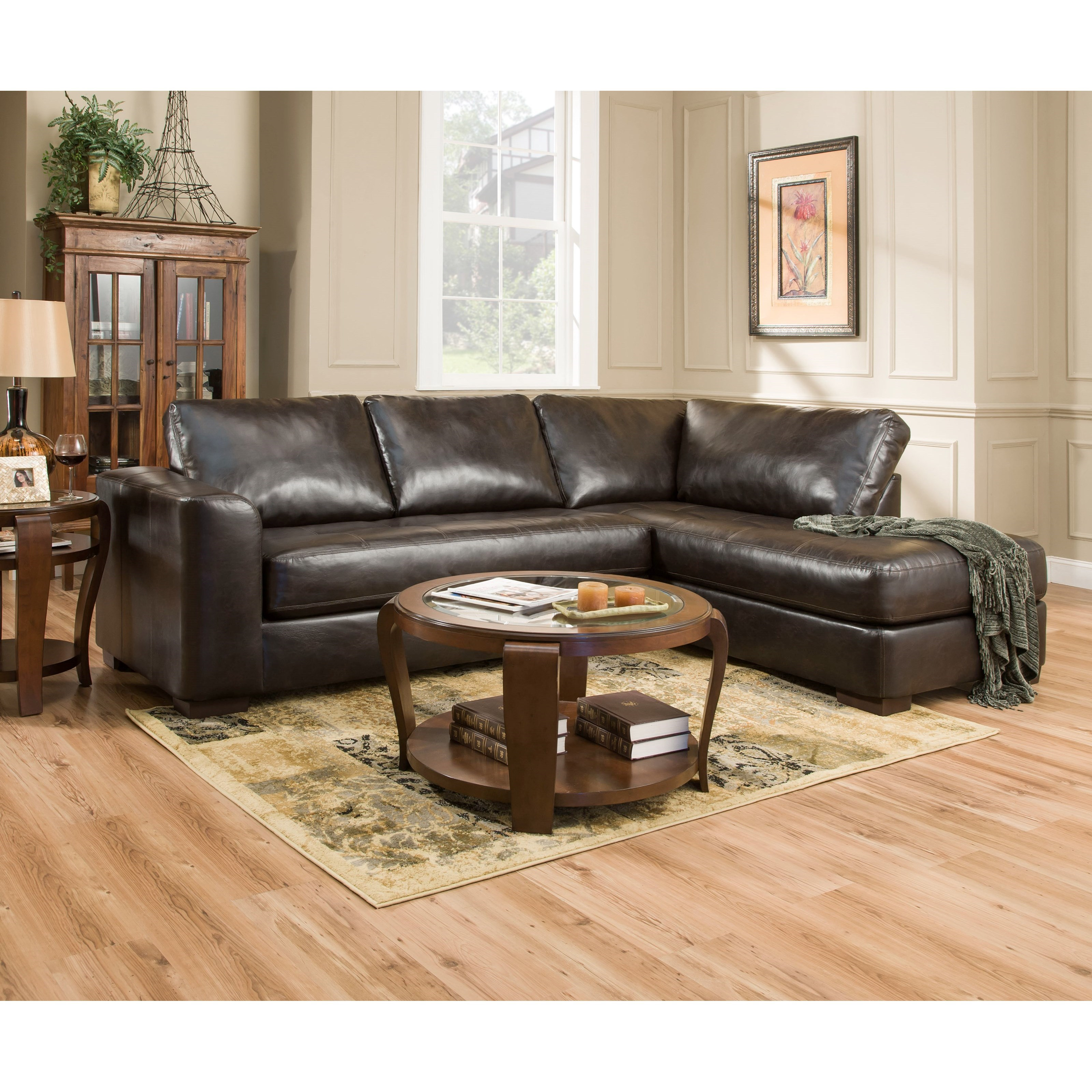 Simmons Upholstery 4558 Sectional Sofa With Chaise Dunk