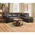 United Furniture Industries 4558 Sectional Sofa with Chaise