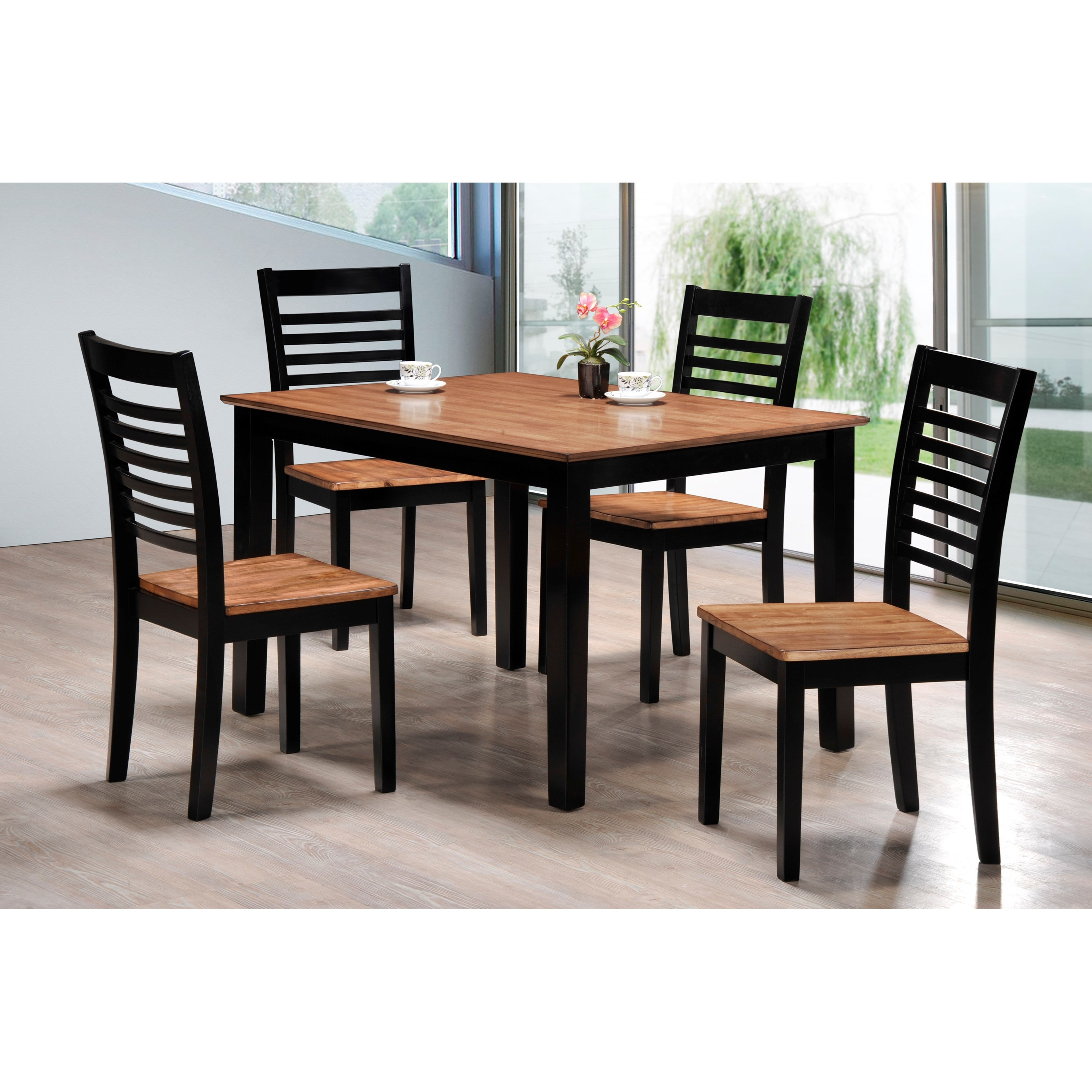 Simmons Upholstery Key West 5 Piece Table and Chair Set - Item Number: 5004-48