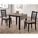 Simmons Upholstery Hampton 3 Pc Dining Set - Item Number: 5014-53