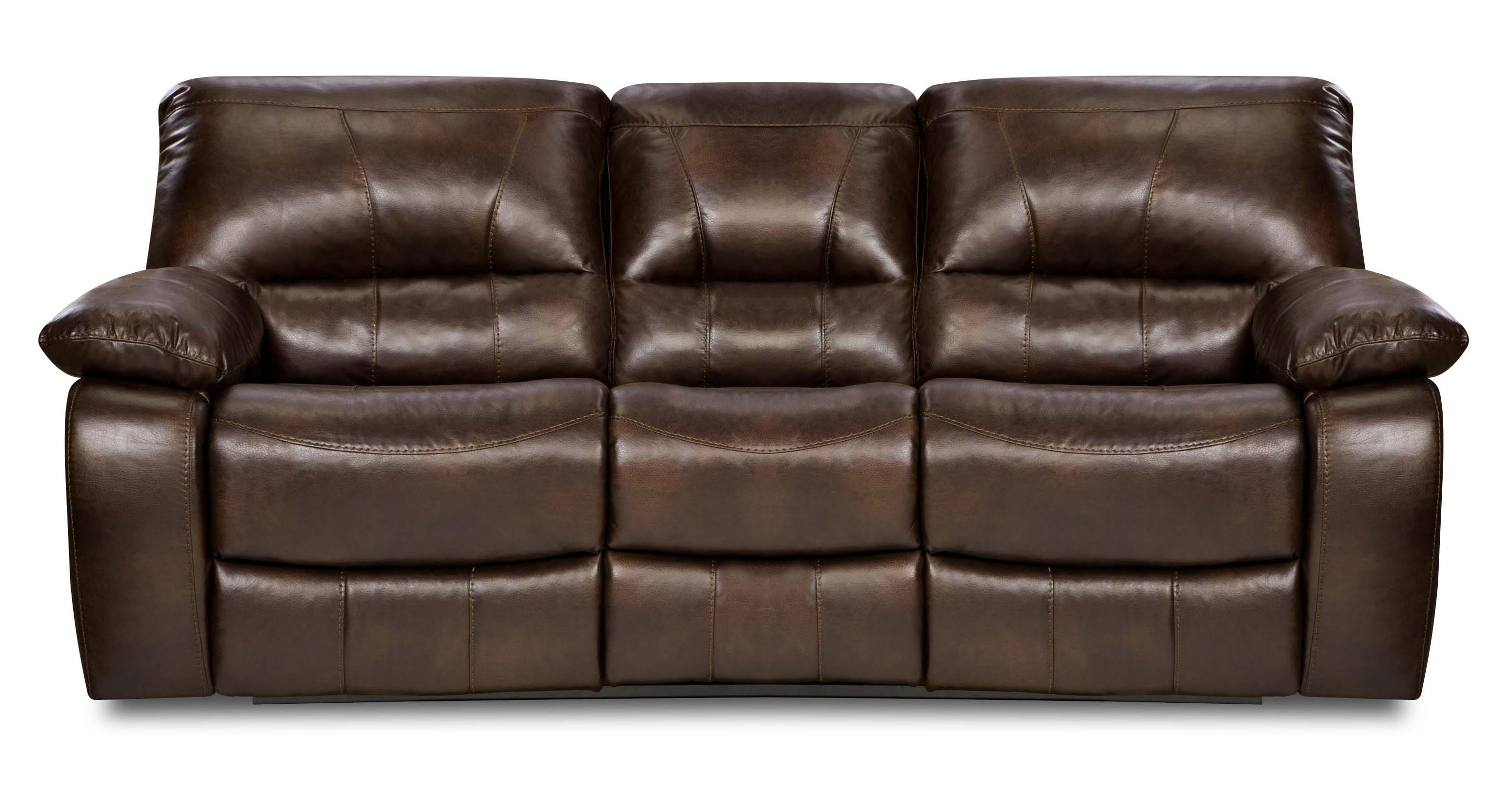 Simmons Upholstery 50240 Casual Reclining Sofa - Item Number: 50240 Motion Sofa Chocolate